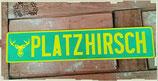 Namensschild Grün, Schrift Gelb