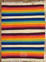 "Pueblo-Blanket ""Creme-Rainbow"""