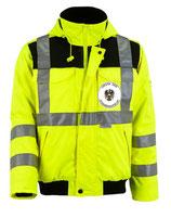 Warnschutz Pilotenjacke Strassenaufsicht Winter gelb