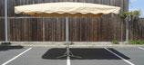 Rechteckiger Alu Schirm 4,0 x 3,0 Meter mit 12 Streben