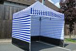 Faltzelt 3 x 3 Meter Aluminium  Zeltbeine Hexagonal