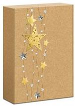 Geschenkkarton Sternenband für 3 Flaschen