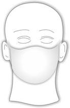 Mundmaske ohne Motiv aus Baumwolle mit Fleece-Einlage