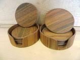 Holzuntersetzer natur/gelasert