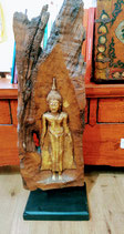 Buddha tronco di legno