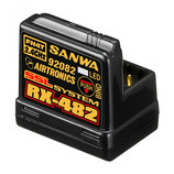 107A41257A Sanwa RX-482 (2.4GHz, 4-Channel, FHSS-4, SSL) Telemetry Receiver w/Internal Antenna