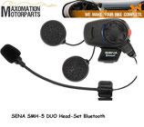 MAX-SENA-SMH-5DUO  Bluetooth-Headset für 2 Teilnehmer