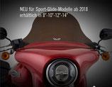 """MAX-FLSB-Windshield Sport-Touring  klar / getönt / dunkel 8""""/10""""/12"""" NEU!"""