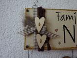 DEKO seitlich für Familien - Schild