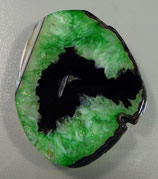 #пк448 Подвеска агат черно-зеленый