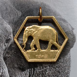 Belgisch Kongo Elefant sechseckig