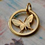 Papua Neuguinea Schmetterling Gold