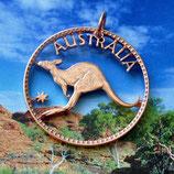 Australien 1 Penny Känguruh komplett
