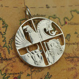 Island Vier Gottheiten Silber