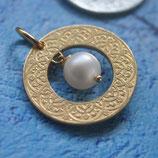 Marokko Ring Ornament mit Perle