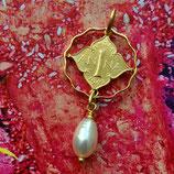 Indien Anna hängende Perle Gold