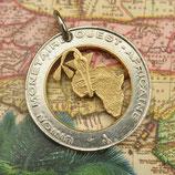 Elfenbeinküste mit Goldgewicht der Ashanti