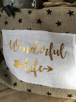 "Motif thermocollant "" Wonderful life"""