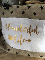 "Motif thermocollant "" Wonderful life"""