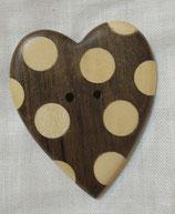 Coeur en bois à pois