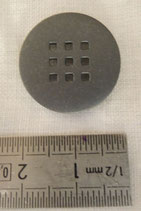 Bouton métal 9 trous