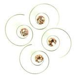 Haarspirale mit Swarovski-Elements champagner klein