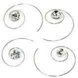 Haarspirale mit Swarovski-Elements kristall klein