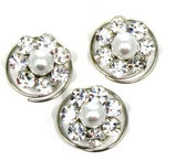 Curlie Blüte mit Swarovski-Elements kristall und Perle