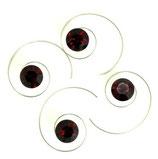 Haarspirale mit Swarovski-Elements dunkel-rot gross