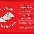 La Bulle de Maryse - LAIT DE GERANIUM