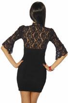Mini-Kleid Spitzeneinsatz 00060