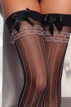 Burlesque-Strümpfe Streifen