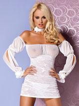 Negligé-Kleid weiss 00237