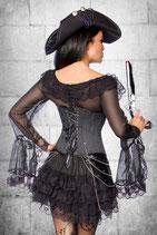 Kleid mit Volantrock schwarz 00272