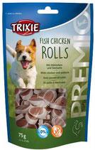 TRIXIE PREMIO Fish Chicken Rolls, 75g, mit Huhn und Seelachs (100g / 2,65€)