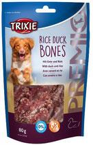 TRIXIE PREMIO Rice Duck Bones, 80g, mit Ente + Reis (100g / 2,49€)