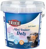 TRIXIE Soft Snack Mini Trainer Dots, mit Lachs, 500 g, glutenfrei (100g / 0,90€)