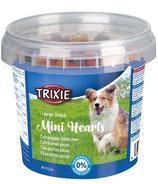 TRIXIE Trainer Snack Mini Hearts, mit Huhn, Lamm + Lachs, 200 g, optimale Belohnung beim Training (100g / 1,00€)