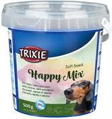TRIXIE Soft Snack Happy Mix, 500g, mit Huhn, Lamm + Lachs (100g / 0,80€)