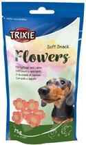 TRIXIE Soft Snack Flowers, mit Geflügel + Lamm, 75 g, speziell für kleine Hunde und Welpen (100g / 1,32€)