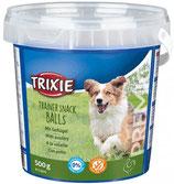 TRIXIE PREMIO Trainer Snack Poultry Balls, mit Geflügel, 500 g, glutenfrei (100g / 1,40€)