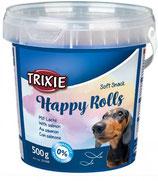TRIXIE Soft Snack Happy Rolls, 500g, mit Lachs (100g / 0,80€)