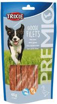 TRIXIE PREMIO Goose Filets, 65g, mit Gans, glutenfrei (100g / 3,06€)