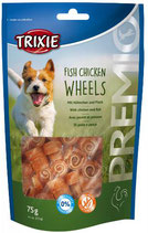 TRIXIE PREMIO Fish Chicken Wheels, 75g, mit Huhn und Fisch (100g / 2,65€)