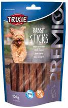TRIXIE PREMIO Rabbit Sticks, 100g, mit extra viel Kaninchenfleisch (100g / 2,49€)