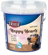 TRIXIE Soft Snack Happy Hearts, 500g, mit Lamm (100g / 0,80€)