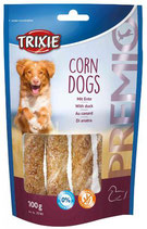 TRIXIE PREMIO Corn Dogs, 4 stck / 100g, mit Ente und Rinderhaut (1 stck / 0,62€)