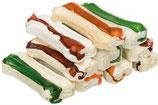 TRIXIE Mini-Kauknochen, speziell für kleine Hunde und Welpen, 10 Stück / 230g, 8 cm, getrocknete Rinderhaut (100g / 2,60 €)