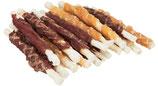 TRIXIE DENTA FUN Chewing Roll Mix, 250g, 10 cm, abwechslungsreicher Kausnack (100g / 3,60€)