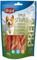 TRIXIE PREMIO Omega Stripes, 100g, mit Hühnerbrust (100g / 2,49€)